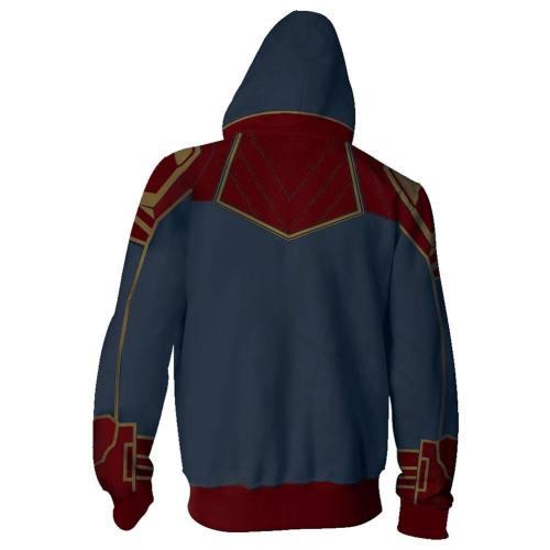 Captain Marvel Carol Danvers 3D Printed Pullover Sweatershirt Jacke mit Kaputze