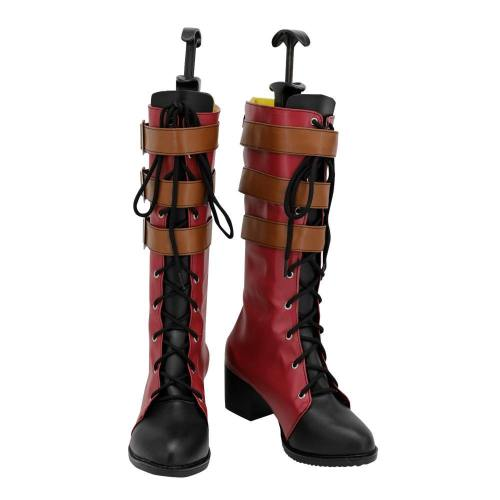OW Overwatch Ashe Elizabeth Caledonia Rotkäppchen der Little Red Ashe Stiefel Cosplay Schuhe