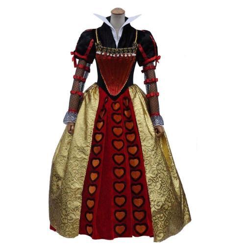 Alice In Wonderland Alice im Wunderland Herzkönigin Die Rote Königin Iracebeth Kostüm Cosplay