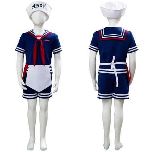 Steve Harrington Stranger Things 3 Scoops Ahoy Uniform Cosplay Kostüm für Kinder