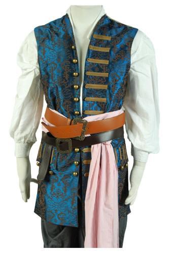 Pirates Of The Caribbean 4 Fluch der Karibik Jack Sparrow Johnny Depp 1 Weste Cosplay Kostüm
