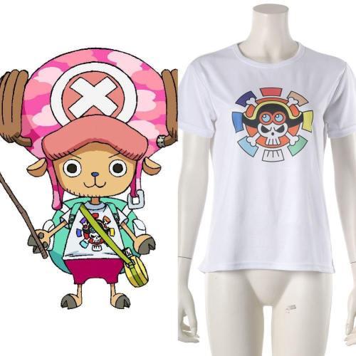 2019 One Piece: Stampede Tony Tony Chopper T-Shirt Tee Top Weiß Tee Kurzarm Cosplay