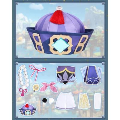 Qiqi Genshin Impact QiqiCosplay Kostüm Qiqi Halloween Karneval Kostüm