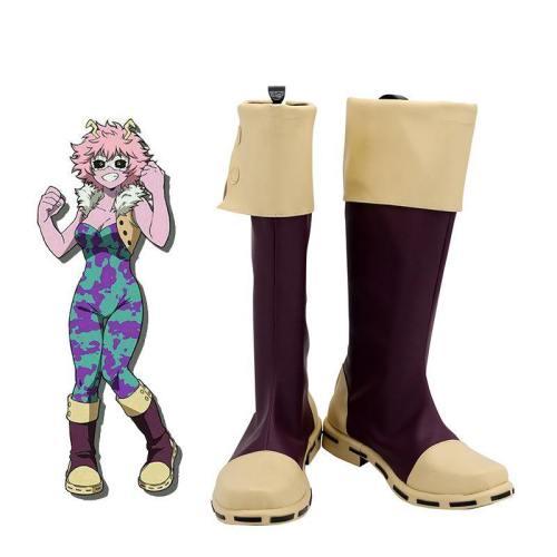 Mina Ashido Schuhe My Hero Academia Pinky Schuhe Cosplay Stiefel