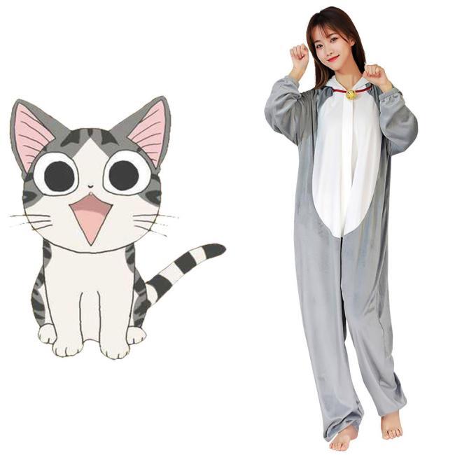 Chi's Sweet Home Yamada Chi Cosplay Pajama Unisex Polyester Pyjamas Halloween Karneval Kostüme