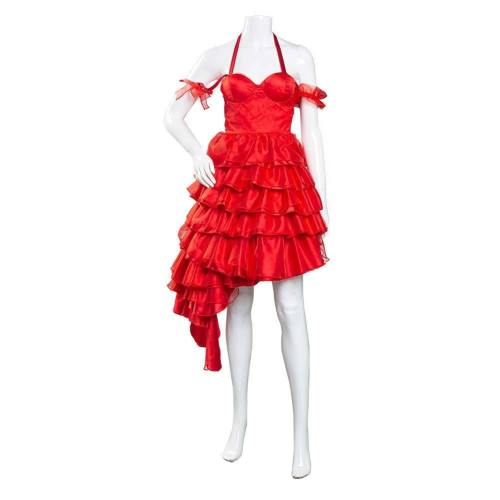 Suicide Squad 2 Harley Quinn rot Kleid Cosplay Kostüm Halloween Karneval Kostüm