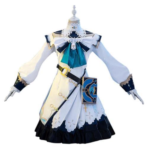 Genshin Impact Barbara Cosplay Kostüm Damen Halloween Karneval Kostüm Set
