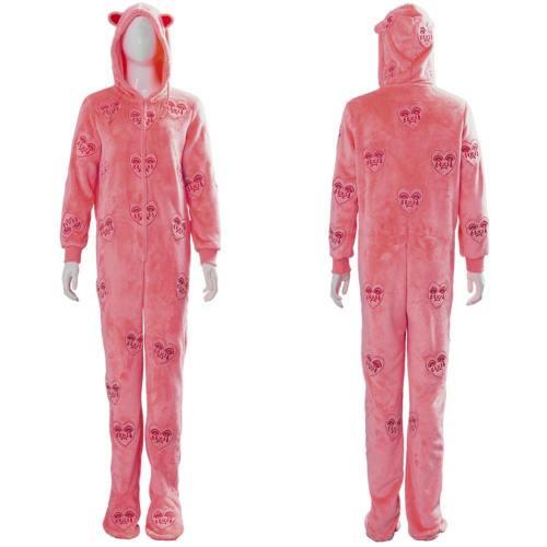 Birds of Prey: The Emancipation of Harley Quinn Cosplay Hooded Pyjama Kostüm Rosa Schlafanzug