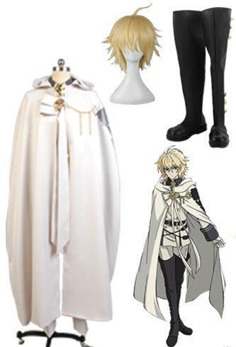 Seraph of the End Vampires Mikaela Hyakuya Cosplay Kostüm + Perücke + Stiefel
