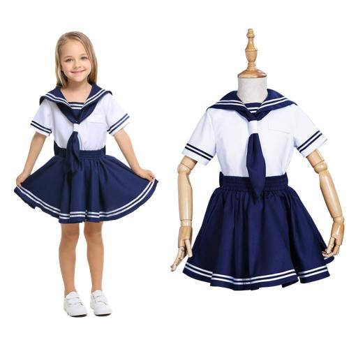 Kinder Sailor Moon Uniform Cosplay Kostüm Mädchen JK Uniform Kleid Halloween Karneval Kostüm