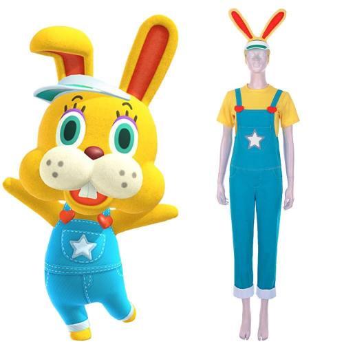 Animal Crossing: New Horizons-Zipper T. Bunny Cosplay Kostüm T-shirt Outfits Halloween Karneval Kostüm