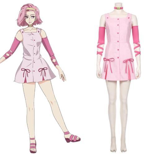 JoJo's Bizarre Adventure -Sugimoto Reimi Kleid Cosplay Halloween Karneval Kostüm