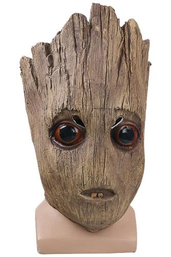 Avengers Infinity War Groot Latex Cosplay Maske für Halloween Karnival Mottoparty