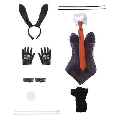 Danganronpa Kyoko Kirigiri Bunny Girl Jumpsuit Cosplay Halloween Karneval Kostüm