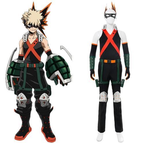 My Hero Academia Boku no Hero Akademia Katsuki Bakugou Kämpfeanzug Cosplay Kostüm