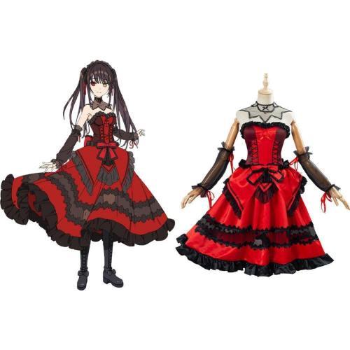 Anime Date A Bullet Tokisaki Kurumi Cosplay Kostüm Damen Mädchen Kleid Halloween Karneval Kostüm