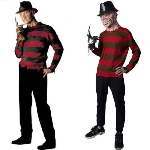 Nightmare on Elm Street-Mörderische Träume Freddie Kruger Top Oberteil T-Shirt Cosplay Kostüm