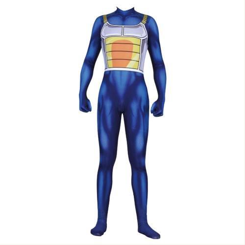 Dragon Ball Vegeta Cosplay Jumpsuit Kostüm Overall Blau