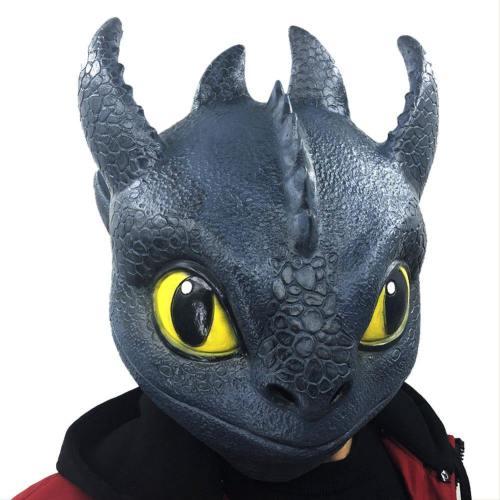 Film 2019 Drachenzähmen leicht gemacht 3 Die geheime Welt Toothless Latex Party Cosplay Maske