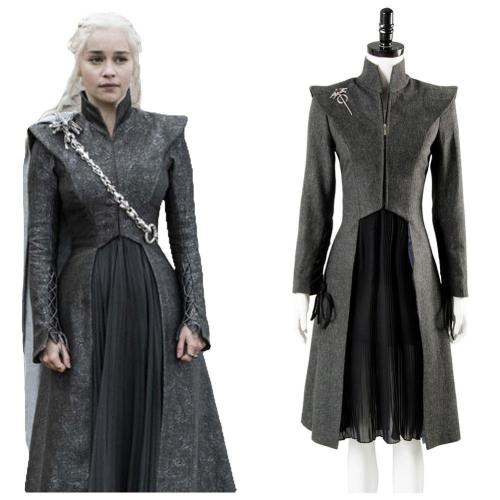 GOT Game of Thrones Staffel 8 Daenerys Targaryen Cosplay Kostüm NEU Version