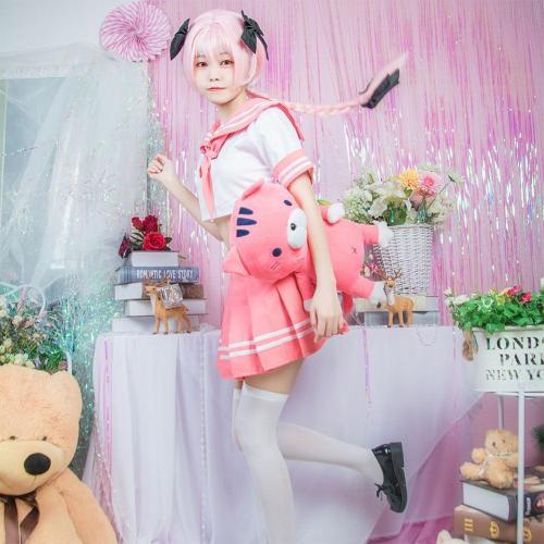 Fate FGO Astolfo Cosplay Kostüm JK Uniform Halloween Karneval Kostüm