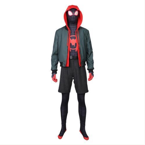 Miles Morales Spider-Man: Into the Spider-Verse Spider-Man: A New Universe Cosplay Kostüm Set