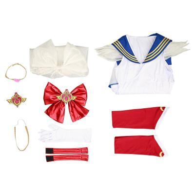 Sailor Moon Eternal Tsukino Usagi Cosplay Kostüm Halloween Karneval Outfits