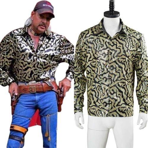 Joe Exotic T-Shirt Tiger King Cosplay Kostüm Halloween Karneval Kostüm Herren