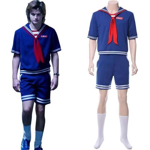 Steve Harrington Stranger Things 3 Scoops Ahoy Uniform Matrosenanzug Cosplay Kostüm NEU