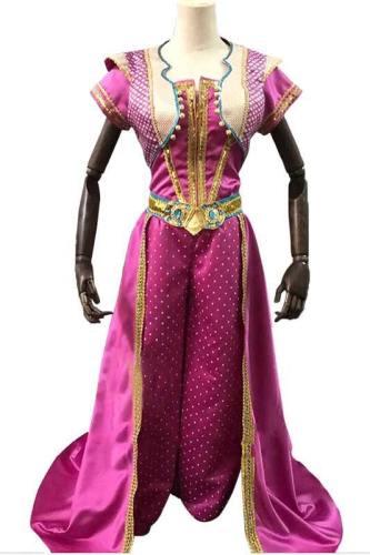 Aladdin 2019 Prinzessin Jasmin Kleid Cosplay Kostüm Delux
