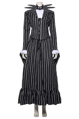 Der Albtraum vor Weihnachten The Nightmare Before Christmas Jack Skellington Damen Kleid Cosplay Kostüm für Damen