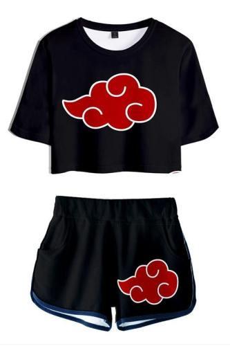 Naruto Damen T-Shirt Shots Set Sommer T-Shirts Damen Oberteil Kurzarm