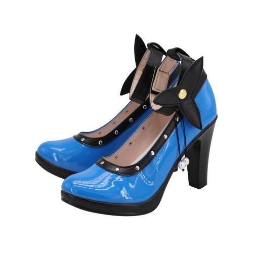Final Fantasy VII Remake-Tifa Lockhart Schuhe Cosplay Schuhe Blau