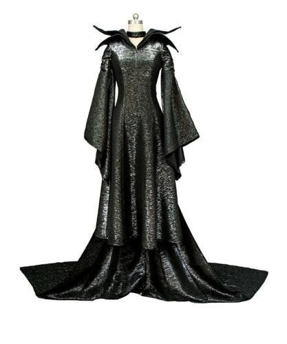 MALEFICENT Film Angelina Jolie Die dunkle Fee Cosplay Kleid Kostüm Full Set