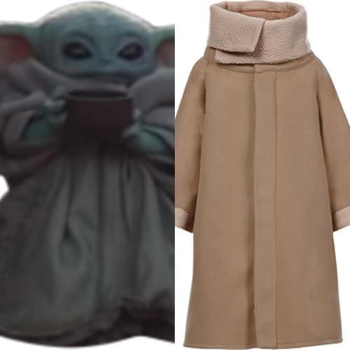 Cosplay Baby Yoda Star Wars The Mandalorian Mantel Cosplay Kostüm für Baby