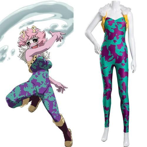 Mina Ashido My Hero Academia Pinky Cosplay Kostüm Jumpsuit