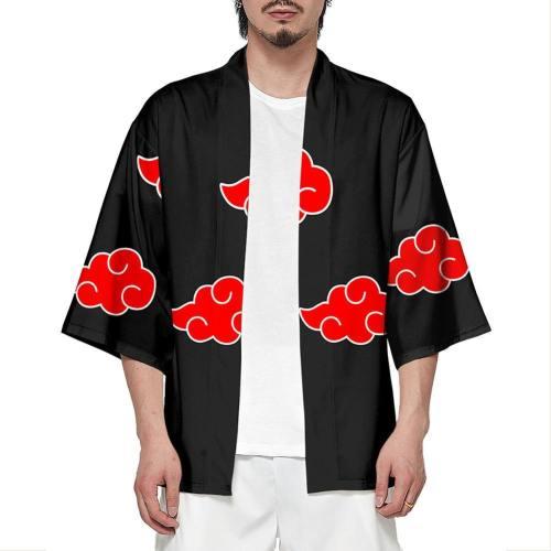 NARUTO Akatsuki Strickjacke Jacke Sieben Viertel Ärmel Cosplay Kostüm