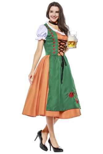 Damen Dirndl Trachtenkleid für Oktoberfest Karneval Kostüm Mottoparty Erwachsene