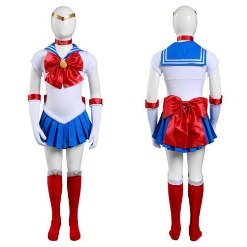 Sailor Moon Kinder Tsukino Usagi/Sailor Jupiter/Sailor Mars Kostüm Mädchen Halloween Karneval Kostüm