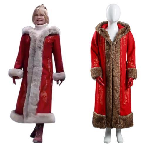 Kinder The Christmas Chronicles 2 Frau Claus Cosplay Kostüm Outfits Halloween Karneval Kostüm