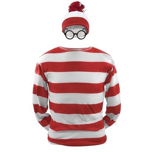 Where's Waldo Waldo Waldo & Friends Wo ist Walter? T-shirt Tee Langarm Cosplay Kostüm