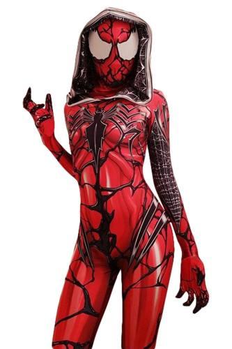 Gwen Spider Dye Gwen Stacy Red Venom Gwen Carnage Symbiote Spiderman Cosplay Kostüm