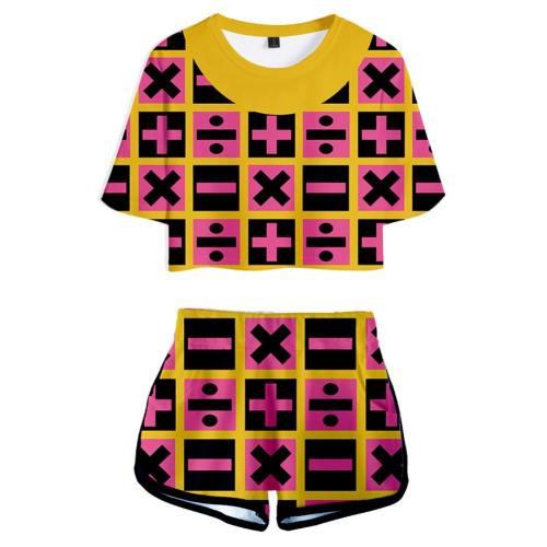 JoJo no Kimyō na Bōken JoJo's Bizarre Adventure Trish Una Shots Set Sommer T-Shirts Damen Oberteil Kurzarm