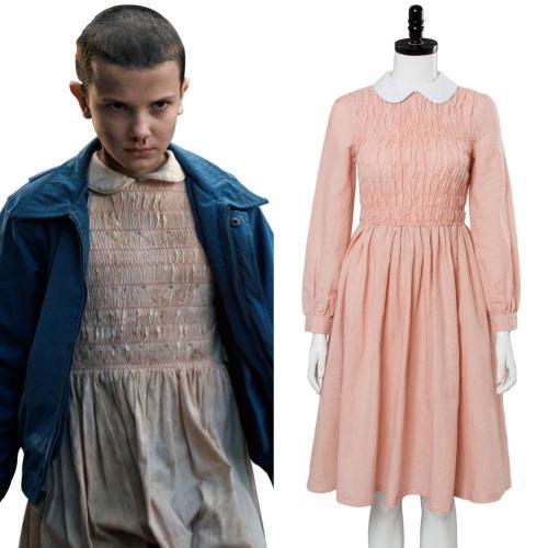 Stranger Things Eleven Jane Ives Jane Hopper alias El Elf Elfi Kleid Cosplay Kostüm