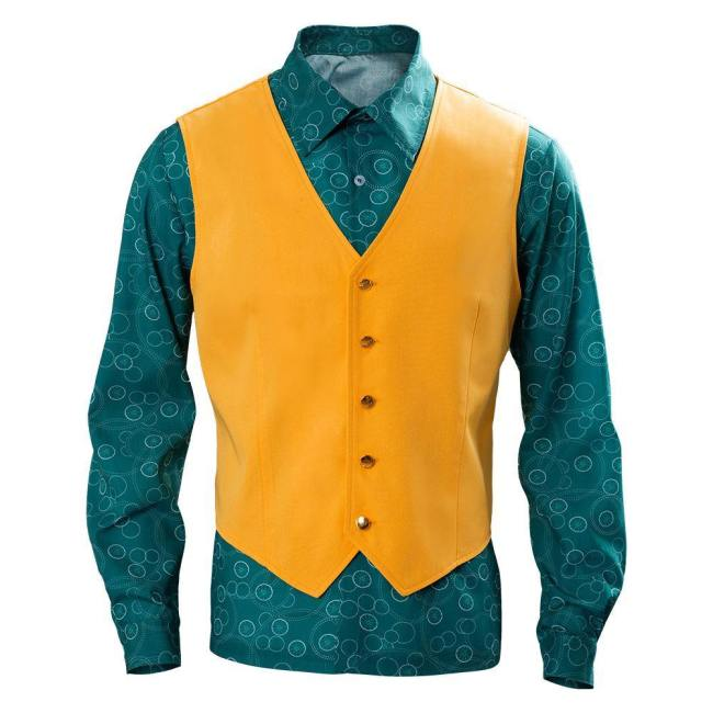 Film Joker 2019 Arthur Fleck Joaquin Phoenix Joker Hemd Weste Cosplay Kostüm 2teilig