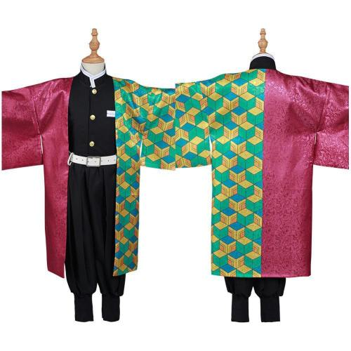 Demon Slayer Kimetsu no Yaiba Tomioka Giyuu Kinder Kimono Cosplay Halloween Karneval Kostüm