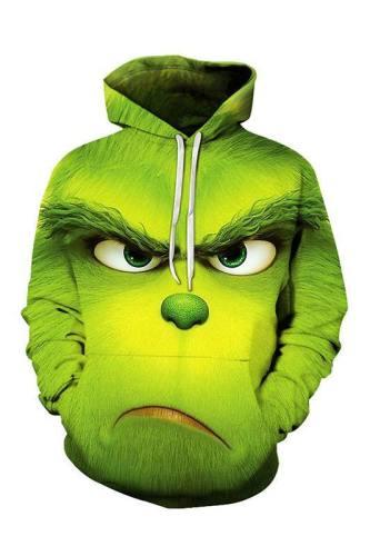 The Grinch Der Grinch Hoodie Sweatshirt Pullover mit Kaputze für Erwachsene