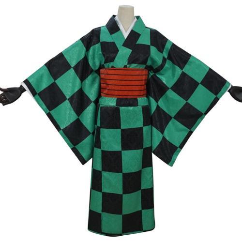 Demon Slayer Kamado Tanjirou Kostüm Kimono Cosplay Halloween Karneval Kostüm webliche Kostüm