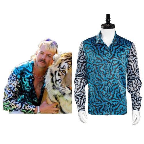 Großkatzen und ihre Raubtiere Tiger King Joe Exotic Druck Shirt Cosplay Kostüm