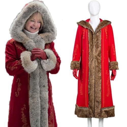 The Christmas Chronicles 2 Mrs. Claus Frau Claus Cosplay Kostüm Mantel Halloween Karneval Kostüm
